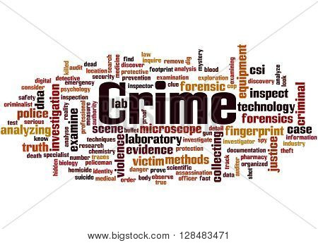 Crime, Word Cloud Concept 2