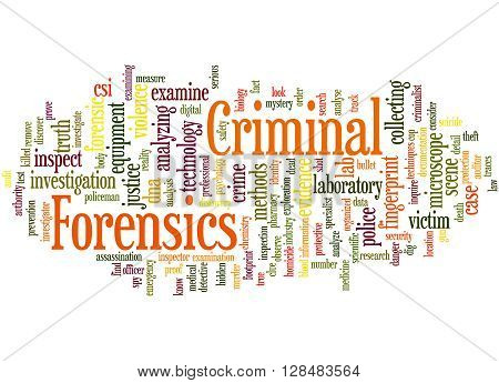 Criminal Forensics, Word Cloud Concept 10