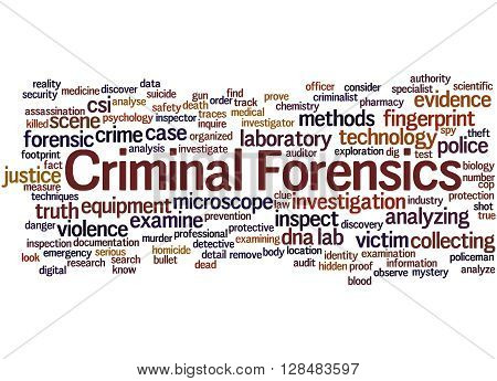 Criminal Forensics, Word Cloud Concept 4