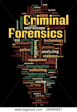 Criminal Forensics, Word Cloud Concept 7