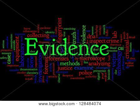 Evidence, Word Cloud Concept 4