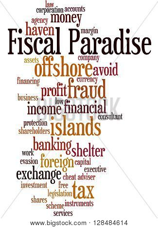 Fiscal Paradise, Word Cloud Concept 11