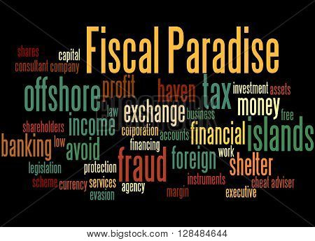 Fiscal Paradise, Word Cloud Concept 7