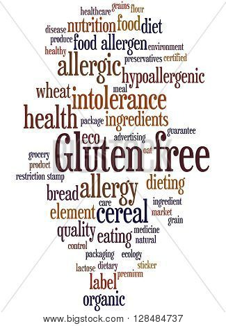 Gluten Free, Word Cloud Concept 10