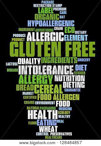Gluten Free, Word Cloud Concept 8