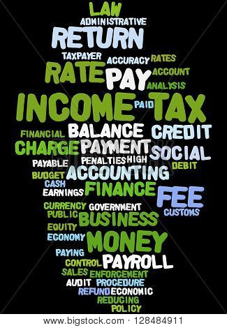 Income Tax, Word Cloud Concept 5