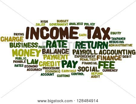 Income Tax, Word Cloud Concept 6