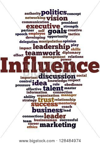 Influence, Word Cloud Concept 8