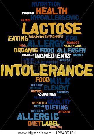 Lactose Intolerance, Word Cloud Concept 5