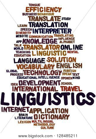 Linguistics, Word Cloud Concept 2