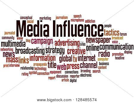 Media Influence, Word Cloud Concept