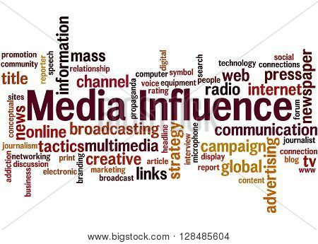 Media Influence, Word Cloud Concept 3