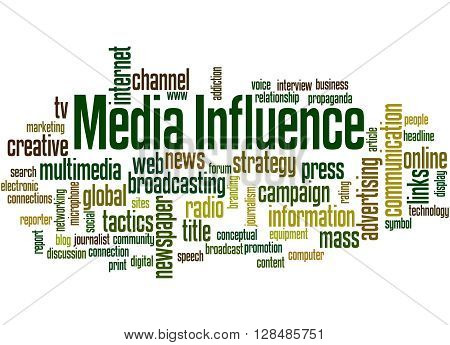Media Influence, Word Cloud Concept 7