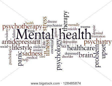 Mental Health, Word Cloud Concept 9