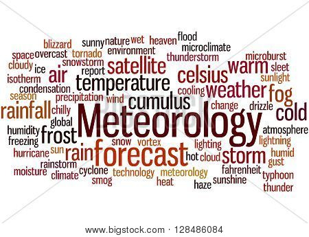 Meteorology, Word Cloud Concept 6
