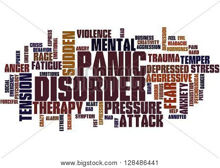 Panic Disorder, Word Cloud Concept 3