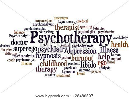 Psychotherapy, Word Cloud Concept