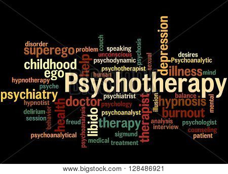 Psychotherapy, Word Cloud Concept 4