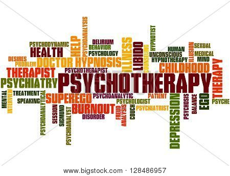 Psychotherapy, Word Cloud Concept 7