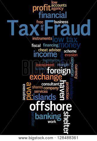 Tax Fraud, Word Cloud Concept 4