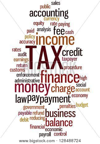 Tax, Word Cloud Concept 2
