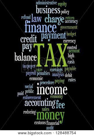 Tax, Word Cloud Concept 5