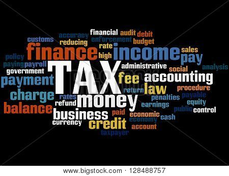 Tax, Word Cloud Concept 6