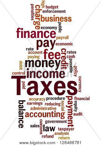 Taxes, Word Cloud Concept