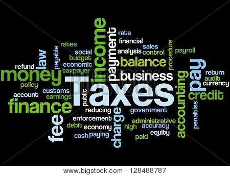 Taxes, Word Cloud Concept 10