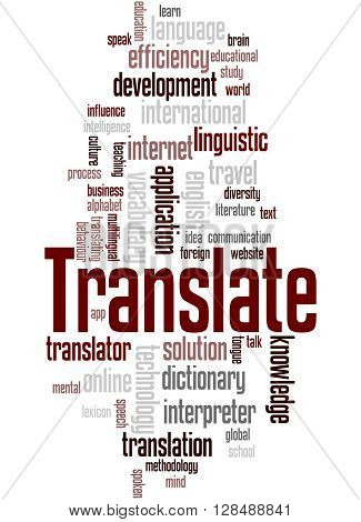 Translate, Word Cloud Concept