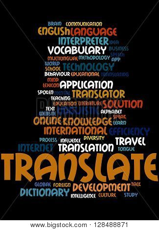 Translate, Word Cloud Concept 5