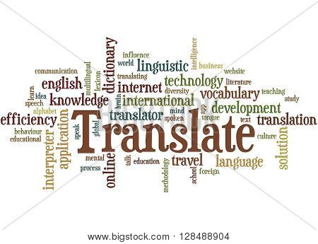 Translate, Word Cloud Concept 6