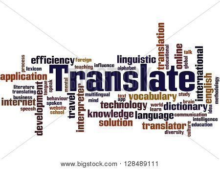 Translate, Word Cloud Concept 8