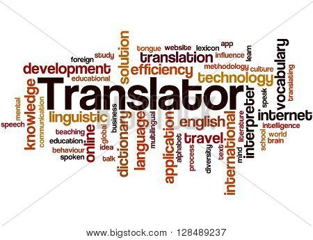 Translator, Word Cloud Concept 3