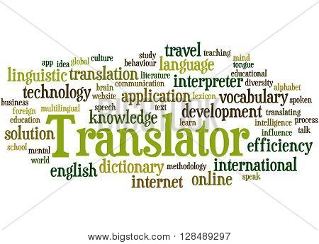 Translator, Word Cloud Concept 8
