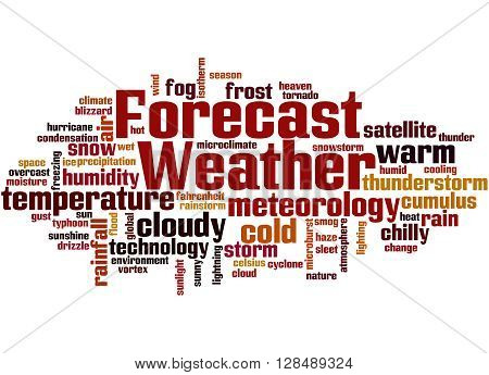 Weather Forecast, Word Cloud Concept