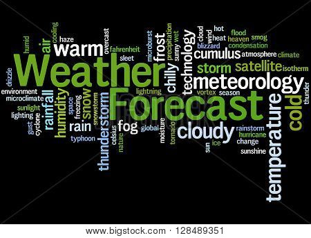 Weather Forecast, Word Cloud Concept 4
