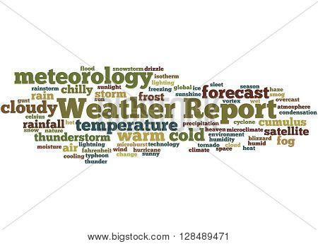 Weather Report, Word Cloud Concept 8