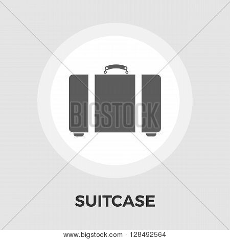Suitcase Icon Vector. Flat icon isolated on the white background. Editable EPS file. Vector illustration.