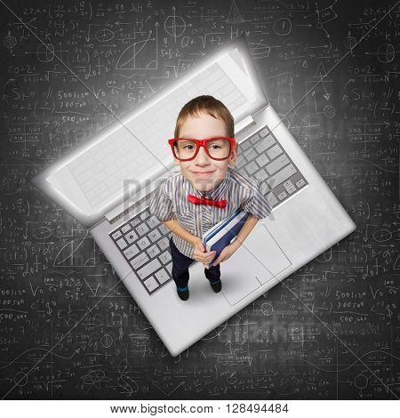 He is little computer genius