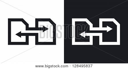 Change SIM cards vector icon. Two-tone version on black and white background