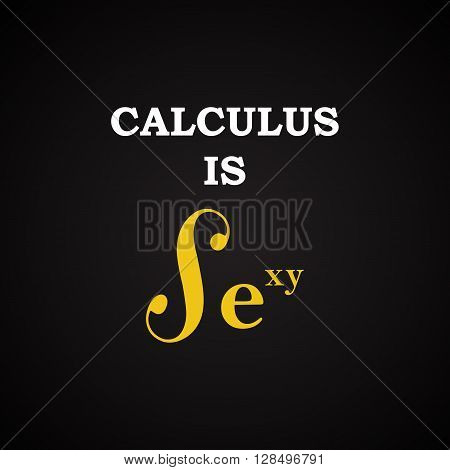 Funny mathematical inscription template - Calculus is sexy -