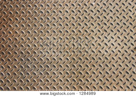 Old Patterned Metal Floor Cover