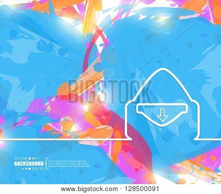 Creative vector mail. Art illustration template background. For presentation, layout, brochure, logo, page, print, banner, poster, cover, booklet, business infographic, wallpaper, sign, flyer.