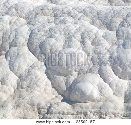 Calcium Bath And Travertine Unique Abstract In Pamukkale Turkey Asia The Old  Water