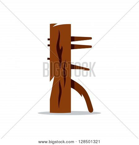Equipment for martial arts, improving skills and best practices Wing Chun Isolated on a White Background