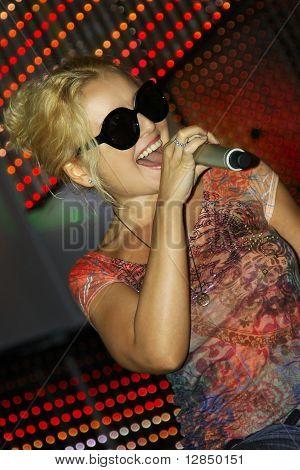The Russian pop star, singer Angelika Varum