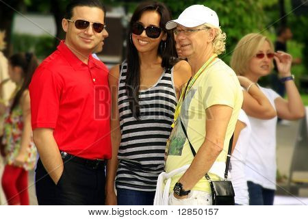 Russian pop stars Alsou and Arkady Ukupnik