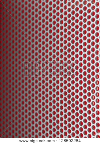 Red Wire Mesh Background filling the frame