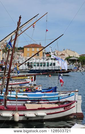 Sanary sur Mer France - april 20 2016 : boats in the port